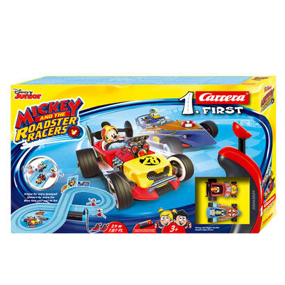 carrera-first-mouse-circuito-de-coches-mickey-and-the-roadster-racers-de-24-m-escala-multicolor