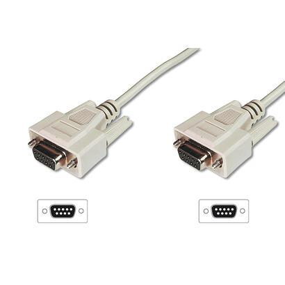 assmann-electronic-ak-610106-020-e-cable-de-serie-beige-2-m-d-sub9