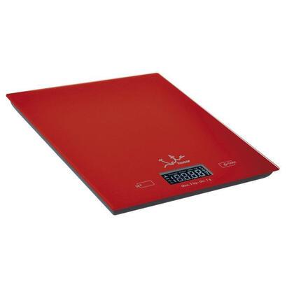 bascula-de-cocina-jata-729-roja-hasta-5kg-precision-1g1ml-informa-pesovolumen-funcion-tara-visor-lcd-superficie-cristal-segurida