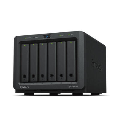 nas-synology-ds620slim-6bay-25in-20ghz-dc-ext-2x-gbe-2x-usb-30-2gb-ddr3l-in