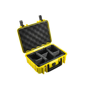 b-w-outdoor-case-type-1000-inserto-de-particion-acolchado-amarillo