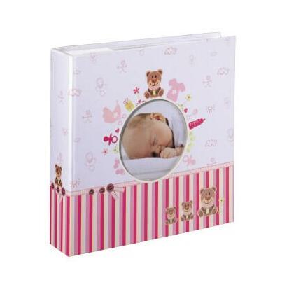 hama-moni-album-de-foto-y-protector-rosa-blanco-200-hojas-10-x-15