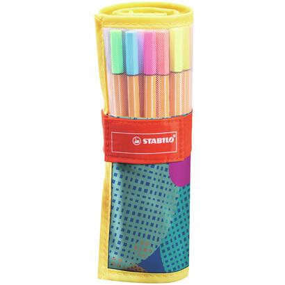 estuche-25-rotuladores-stabilo-point-88-rollerset-punta-metalica-apto-para-uso-con-reglas-y-plantillas-trazo-04-mm