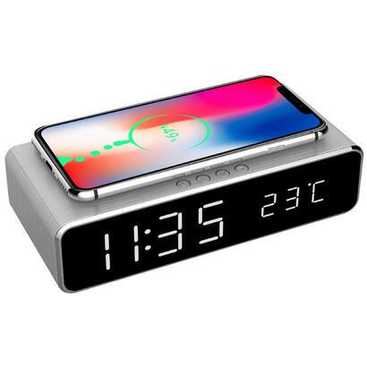 gembird-dac-wpc-01-s-despertador-reloj-despertador-digital-plata
