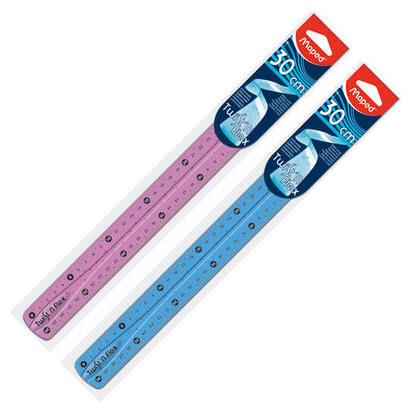 regla-flexible-maped-027900-doble-graduacion-30cm-colores-surtidos-aleatorios