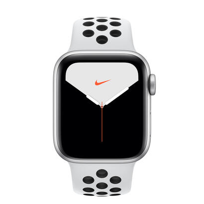 apple-watch-nike-series-5-gps-40mm-aluminio-gris-con-correa-deportiva-pure-platinumnegra