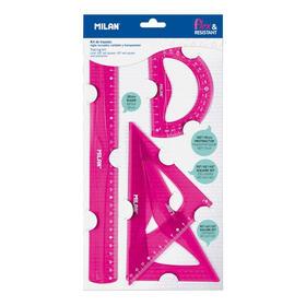 kit-de-trazada-milan-flexresistant-rosa-acid-incluye-reglaescuadracartabontransportador-material-flexible-y-resistente
