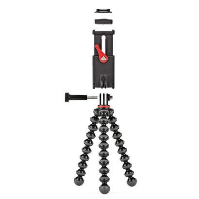 joby-griptight-action-kit-tripode-camara-de-accion-3-patas-negro-rojo