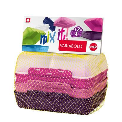 emsa-variabolo-conjunto-de-fiambrera-y-bidon-reutilizable-multicolor-polipropileno-pp-2-piezas