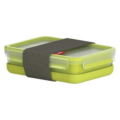 emsa-518098-fiambrera-taper-verde-transparente-polipropileno-pp-elastomero-termoplastico-tpe-12-l-1-piezas