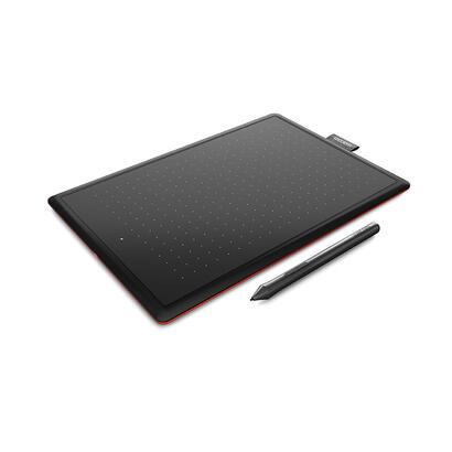 wacom-one-de-wacom-tableta-grafica-negra-roja