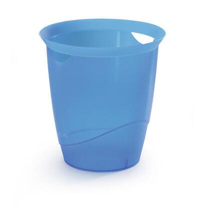 durable-trend-papierkorb-16l-transluzent-blau