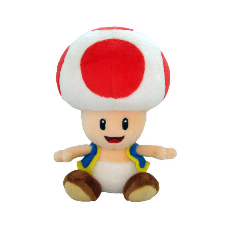 peluche-toad-rojo-17cm-coleccion-super-mario