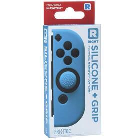 fr-tec-funda-silicona-grip-para-joy-con-derecho-azul-para-nintendo-switch