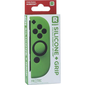 fr-tec-funda-silicona-grip-para-joy-con-derecho-verde-para-nintendo-switch