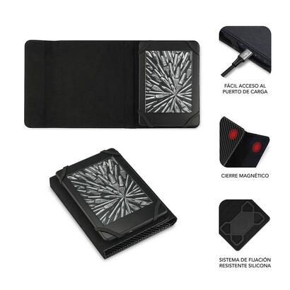 funda-subblim-clever-ebook-para-e-reader-6-1524cm-black-material-exterior-simil-fibra-de-carbono-cierre-mediante-solapa-magnetic