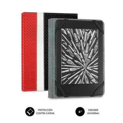 funda-subblim-clever-ebook-para-e-reader-6-1524cm-red-material-exterior-simil-fibra-de-carbono-cierre-mediante-solapa-magnetica