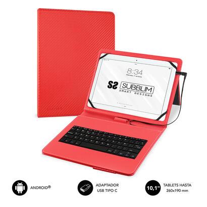 funda-teclado-tablet-keytab-pro-usb-101-rojo-subblim