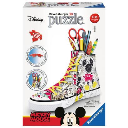 puzzle-3d-zapatilla-portalapices-mickey-108-piezas