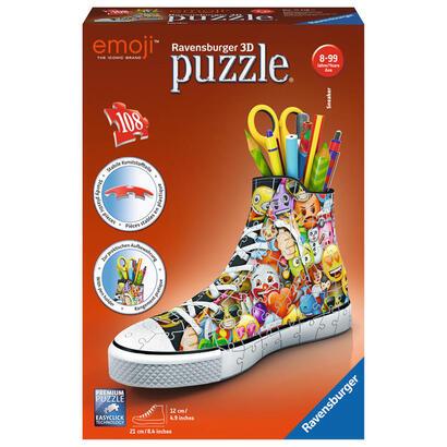 puzzle-3d-zapatilla-portalapices-emoji-108-piezas