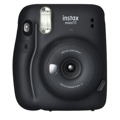 camara-instantanea-fujifilm-instax-mini-11-charcoal-gray-objetivo-2-componentes-flash-foto-tamano-6246mm-apagado-automatico-2aa