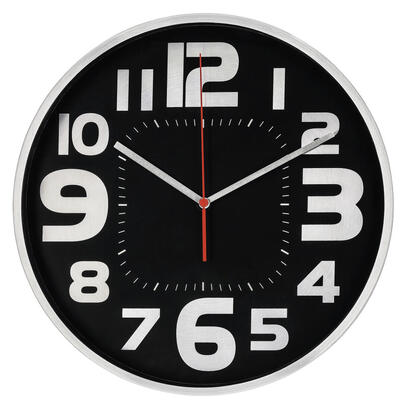 hama-reloj-de-pared-emotion-30cm-quiet-silver-black