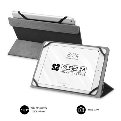 funda-universal-subblim-freecam-para-tablet-hasta-101-256cm-black-interior-aterciopelado-trasera-plegable-para-usar-camara