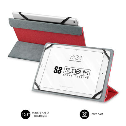 funda-universal-subblim-freecam-para-tablet-hasta-101-256cm-red-interior-aterciopelado-trasera-plegable-para-usar-camara