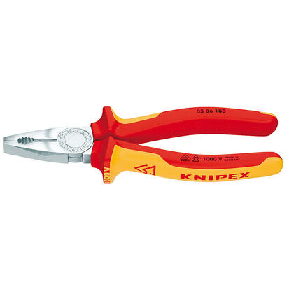 knipex-03-06-160-alicates-de-electricista-16-cm-acero-de-plastico-rojonaranja-16-cm