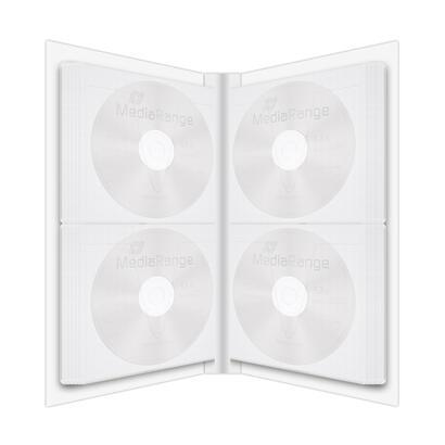 mediarange-cd-dvd-rohlinge-funda-48-discos-transparente-blanco-de-plastico-120-mm-200-g