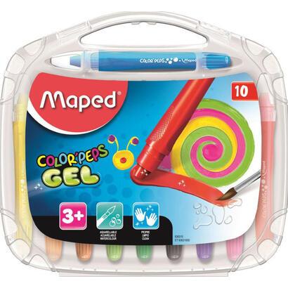 estuche-10-lapices-de-gel-acuarelables-maped-color-peps-836310-blandos-colores-vivos