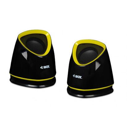 ibox-altavoz-cubo-20-5w-negro-amarillo