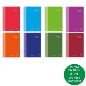 pack-4-libretas-sam-pacsa-16480-serie-premium-extra-tamano-a5-120-hojas-90gr-rayado-55-tapa-forrada-espiral-colores-surtidos