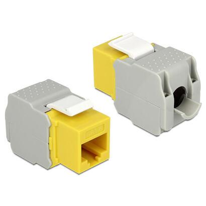 delock-86345-modulo-keystone-rj45-cat6-utp-amarillo