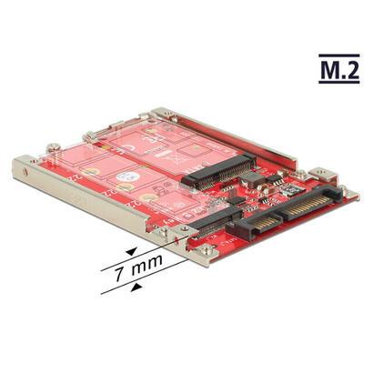 delock-convertidor-25-sata-22-pin-m2-msata-7-mm