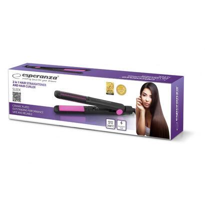 esperanza-ebp002-sleek-plancha-de-pelo-35w
