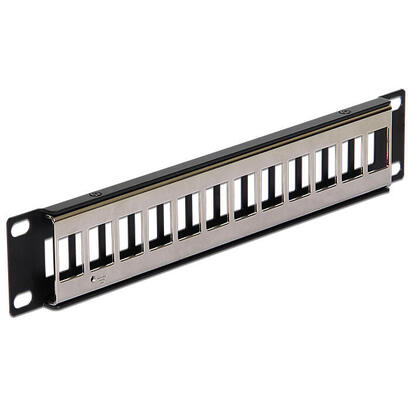 delock-10-keystone-patch-panel-12-port-metal-black