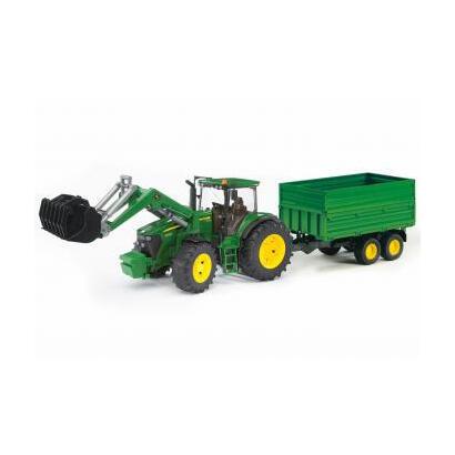 bruder-john-deere-7930-with-frontloader-and-trailer-vehiculo-de-juguete