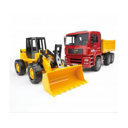 bruder-construction-truck-with-articulated-road-loader-vehiculo-de-juguete