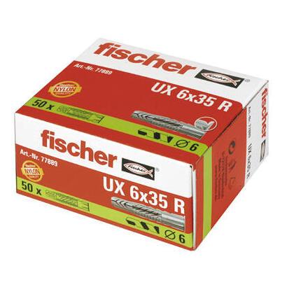 fischer-077889-tornillo-de-anclaje-y-taco-35-cm-50-piezas