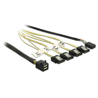 delock-cable-mini-sas-hd-sff-8643-4x-sata-7-pin-reverse-banda-lateral-negra-1-metro