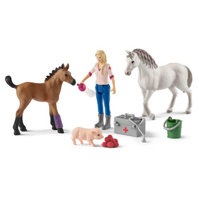 schleich-vet-visiting-mare-and-foal