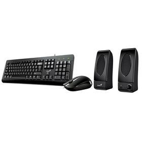 genius-tecladoratonaltavoces-kms-u130-usb-negro