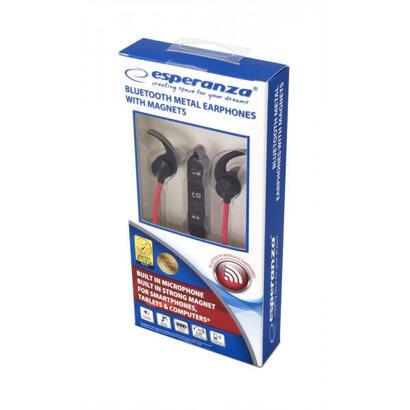 esperanza-eh186k-auriculares-in-ear-inalambrico-negro-rojo
