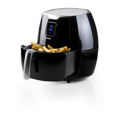 domo-deli-fryer-xxl-freidora-de-aire-caliente-55-l-sencillo-negro-plata-independiente
