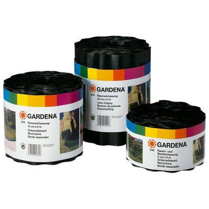 gardena-534-20-cercadillo-para-cesped-de-plastico-negro-9m
