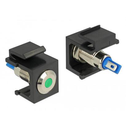 delock-86463-keystone-led-verde-6-v-plano-negro