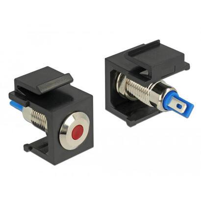 delock-86464-keystone-led-rojo-6-v-plano-negro