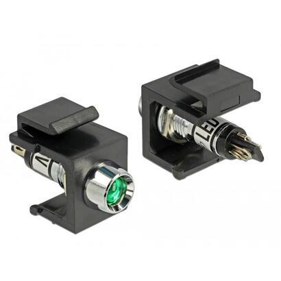 delock-86456-keystone-led-verde-6-v-negro