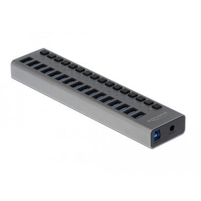 delock-63978-hub-usb-30-con-16-puertos-con-conmutador-gris